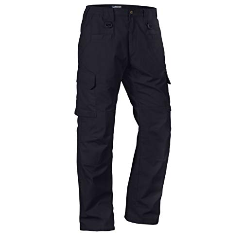 LA Police Gear Men's Water Resistant Operator Tactical Pant with Elastic Waistband - Navy - 36 x 30