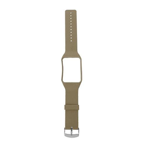 Leiouser Correa de silicona de repuesto compatible con Sam-sung Ga-laxy Gear S SM-R750 Smart Watch