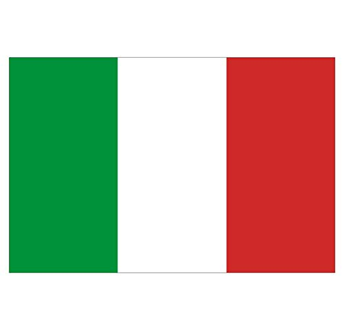 Supstick Italiaanse Vlag Stickers 18 x 12 cm