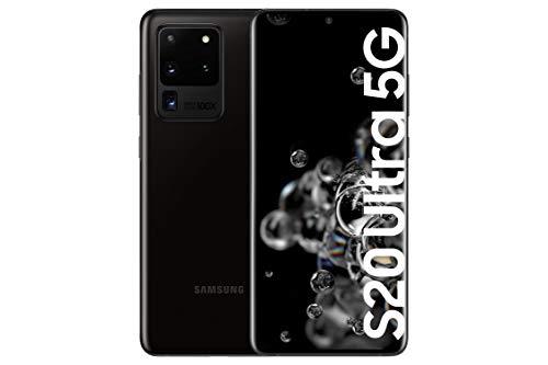 "Samsung Galaxy S20 Ultra 5G - Smartphone 6.9"" Dynamic AMOLED (12GB RAM, 128GB ROM, cámara 108MP gran angular, Octa-core Exynos 990, 5000mAh batería, carga ultra rápida) Cosmic Black [Versión española]"