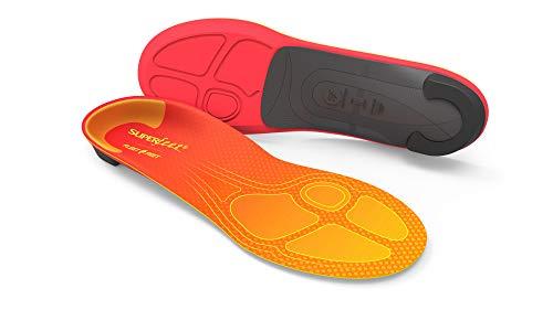 Superfeet FF RUN Comfort Pain Relief Insoles, Unisex, Tangerine, Large/E: 10.5-12 US Womens / 9.5-11 US Mens