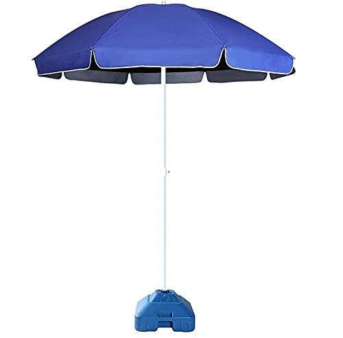 Riyyow Parasol Umbrella Sun Protection Patio Paraguas, Gazebo Muelle Paraguas de Mesa al Aire Libre con 3.3ibs Base de Paraguas Llena de Agua, fácil de operar