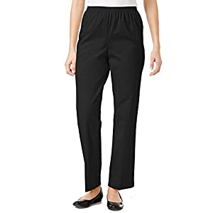Alfred Dunner All Around Elastic Waist Cotton Short Twill Pants