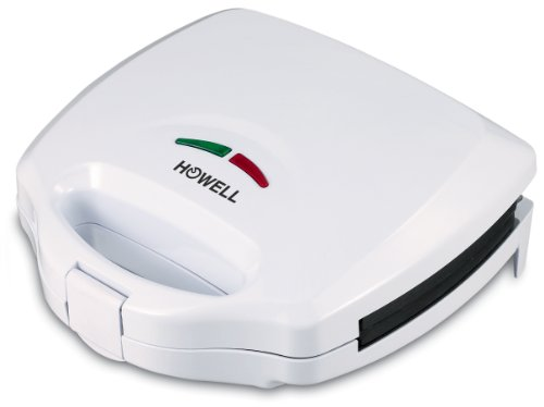 HOWELL HO. PM102N Party Maker con Piastre intercambiabili, 750 W, Poliestere, Bianco
