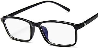 نظارات للجنسين للتلفزيون واللعب على الكومبيوتر، نظارات بإطار مربع، نظارات شفافة بطبقة زرقاء وعدسات مضادة للانعكاس والأشعة ...