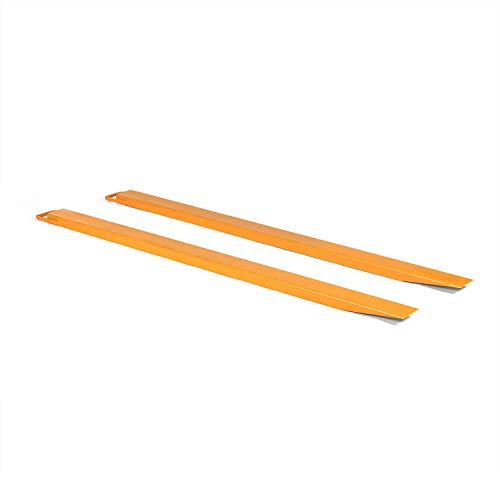 Titan Attachments Pallet Fork Extensions for Forklifts and Loaders, Slide On Clamp, 84-in x 4.5-in