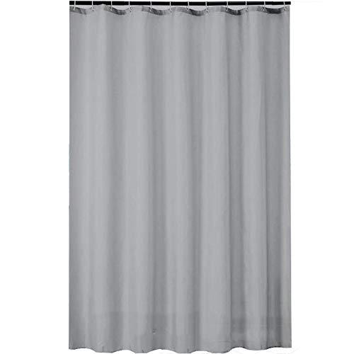 ZXGXH douchegordijn, grijs, van solide polyester, waterdicht, schimmelbestendig, voor badkamer