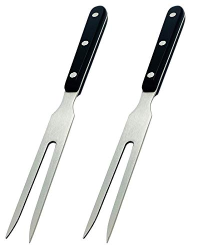 Carving Fork, VOJACO Meat Forks, 10 Inch Long Stainless Steel Forks for BBQ, Barbecue, Serving, Cooking, Grilling, Roasting (2, 10 Inch)