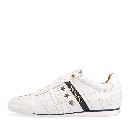 Pantofola d'Oro Baskets Low Imola Stampa Uomo Low pour homme, Bright White 10211036 - 1 fg, 44 EU