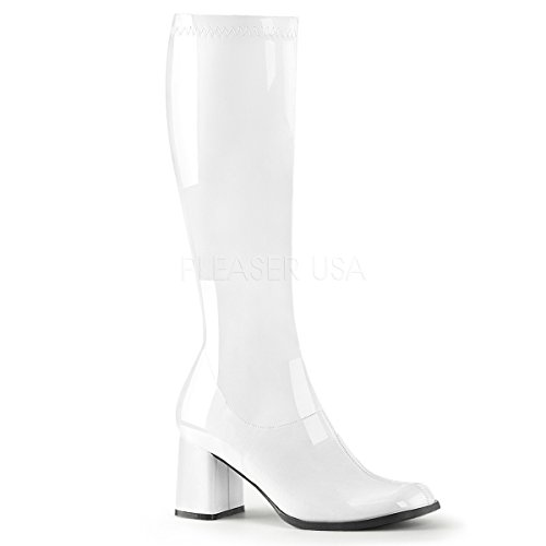 Womens White Costume Boots - 9