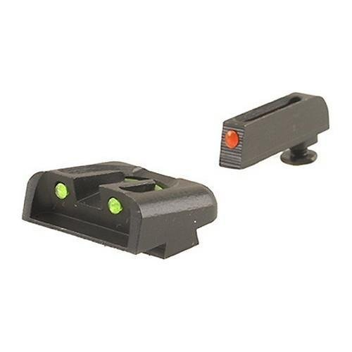 Truglo Fiber Optic Handgun Sight Set - Glock High Red/Green by Truglo