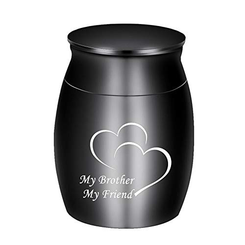 Small Keepsake Urns for Human Ashes Mini Cremation Urns for Ashes Stainless Steel Memorial Ashes Holder-My Brother My Friend