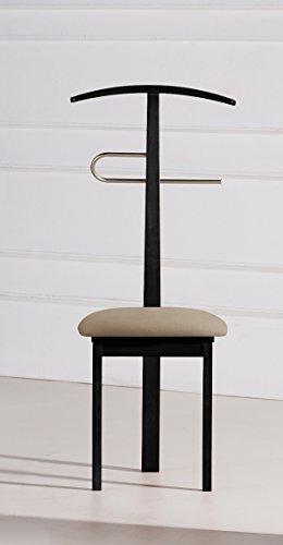 PEGANE Valet de Nuit/Chaise Noir en hêtre Massif, 44 x 46 x 108 cm