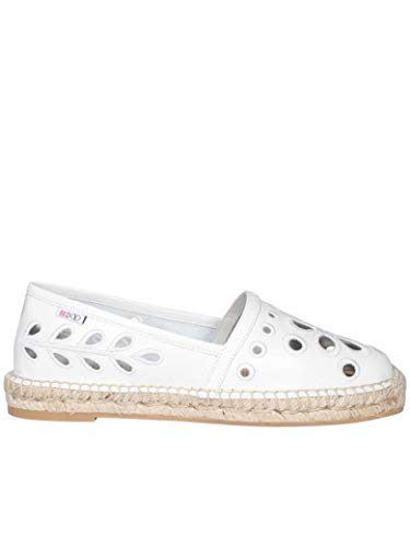 Luxury Fashion | Red Valentino Dames TQ0S0D91IYJ031 Wit Leer Espadrilles | Lente-zomer 20