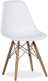 lo+demoda Wooden Silla, Haya, Blanco, 60x58x3.8 cm