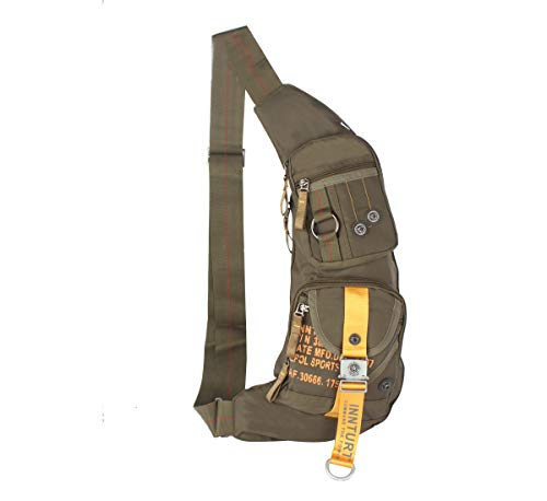 Innturt Nylon Sling Chest Bag Daypack Bicycle Travel Gym Backpack Color Army Green