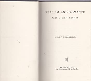 Hardcover Realism and Romance and Other Essays Book