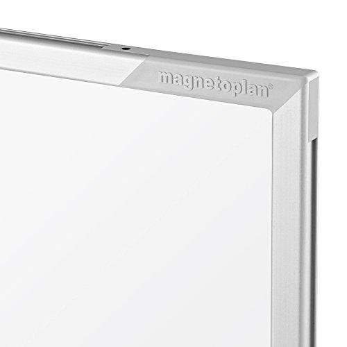 magnetoplan 1240489 Whiteboard mit Fahrgestell, speziallackierte Oberfläche, komplett mit Ablageschale für Marker und Zubehör, 1200 x 900 mm - 3