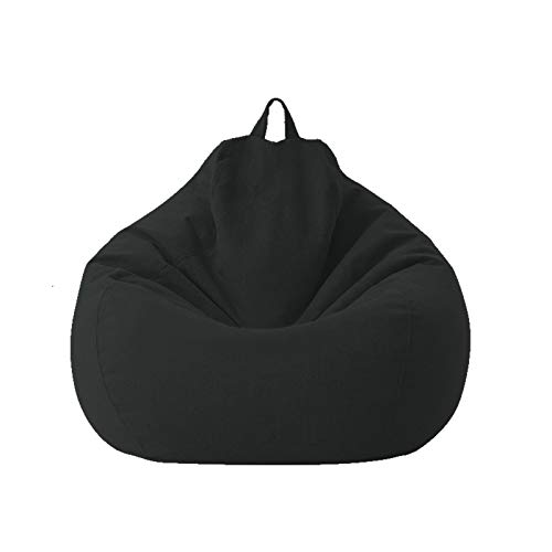 Funda para Sillón Puff -Cubierta para Sofá Perezoso Fundas ,Clásicas De Puff Pera Bolsa De Frijol para Silla ,100 * 120cm Puff Gigante (Sin Relleno Puff)