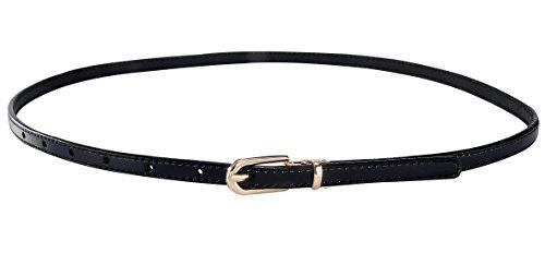 Aivtalk Damen Schmaler PU Leder Gürtel Mode Hüftgürtel Belt Dünn Taillengürtel für Jeans Kleid