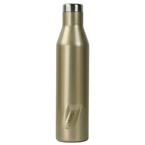 EcoVessel Aspen Vacuum Insulated Water Bottle and Wine Growler with Triple Insulation, 16oz Slim Stainless-Steel Travel Thermal Bottle