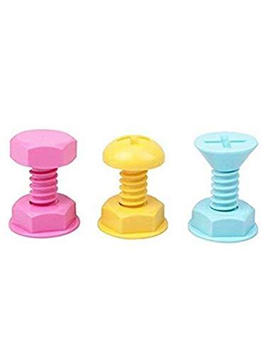 3Pcs Candy Color Mini Tornillo Baño Pared Ganchos Bastidores Perchas Plástico Toalla Albornoz Gancho