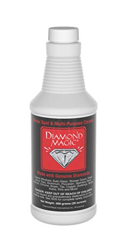 Diamond Magic - Water Spot & Multi-Purpose Cleaner (20 Ounces) Clean with The Power of Genuine Diamonds! Professional Cleaner/Hard Water Stain Remover. Made in The USA!