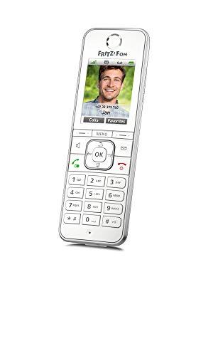 AVM FRITZ!Fon C6, Telefono Cordless DECT (display a colori di alta qualità, telefonia HD, servizi Internet, ottimizzato per il funzionamento solo con FRITZ!Box), colore bianco, versione internazionale