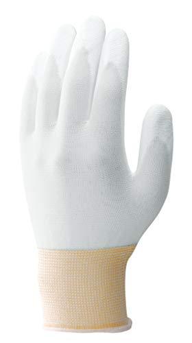 ショーワグローブ 【低発塵】簡易包装パームフィット手袋10双入 ホワイト Lサイズ 1袋