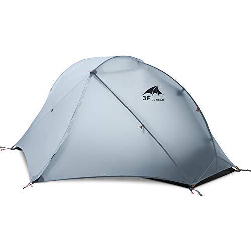 3FULGEAR風と雲1 テント 1人用 アウトドア 二重層 自立式 超軽量 防風防水 PU5000/6000 登山用テント (専用グランドシート付) (グレー)