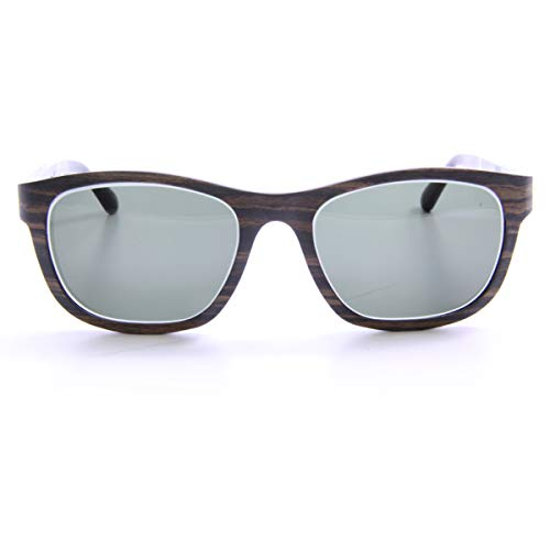 Iwood Sonnenbrille aus Holz/Echtholz/Echtholzbrille/Holzbrille - Modell 01 Wenge mit Indigo Blau - für Damen und Herren - UV400 = 100% UV-Schutz - Brillenmanufaktur aus Deutschland