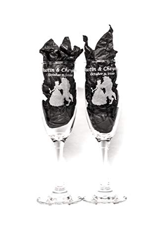 Beauty and the Beast Champagne Glass Set