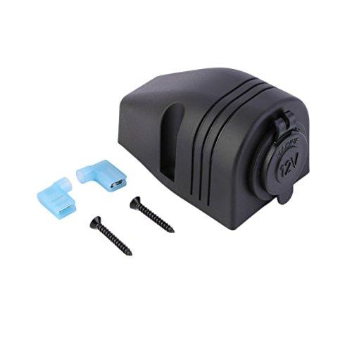 ACEHE Toma de corriente para encendedor de cigarrillos, impermeable de 12 V, adaptador de corriente portátil para motocicleta, accesorios de modificación