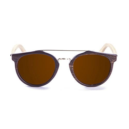 Paloalto Sunglasses Richmond Gafas de Sol Unisex, Brown Dark/Bamboo Natural