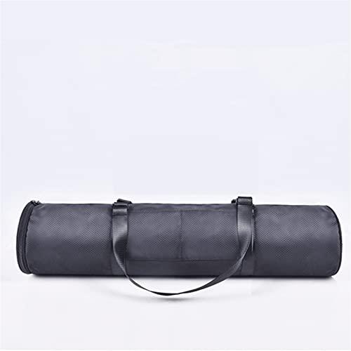 DHDHWL Bolsa para esterilla de yoga, portátil, impermeable, bolsa de yoga, plegable, para esterilla de baile, multifuncional, mochila deportiva (color: color negro)