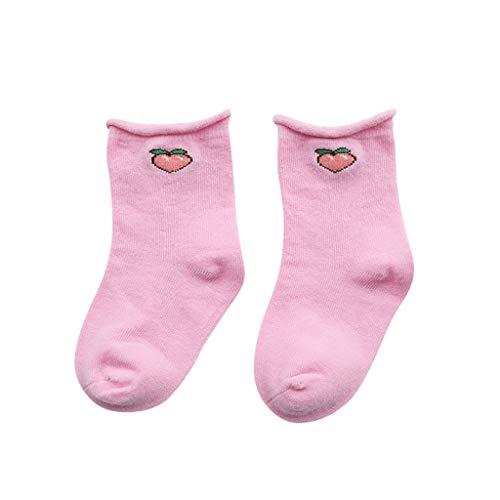 Chaussette Bébé Garçon Fille en Coton, Comfortable des Fruits Chaussettes en Coton pour Enfants Chaussettes Mignons d'animaux, Kawaii pour Les Chaussures EU Pointure