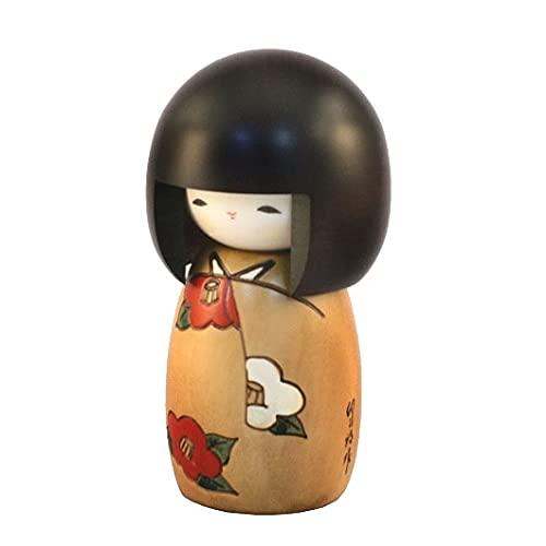 Muñeca Kokeshi japonesa auténtica y tradicional – Hananouta Design – Hecho a mano y fabricado en Japón