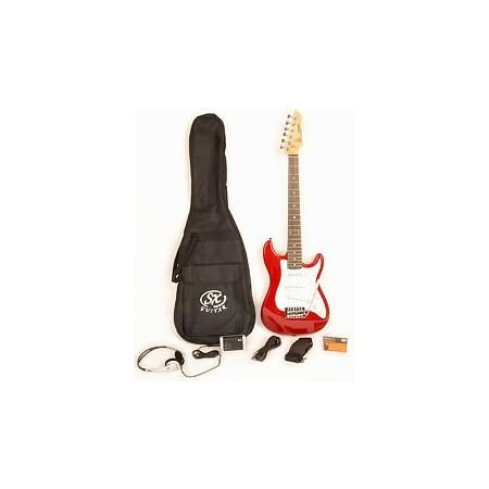 Electric Guitar Package 1/2 Size w/Pocket Amp, Strap, and Cord SX RST 1/2 CAR Short Scale Red Package