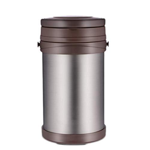 JHGF Fiambrera térmica - Fiambrera de Acero Inoxidable Recipientes de Almacenamiento de Alimentos a Prueba de Fugas con Bolsa de Almuerzo aislada Cubiertos portátiles para