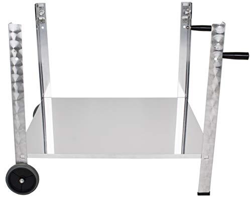 Beeketal Gasgrill Untergestell aus Edelstahl mit Rollen und Griffen, Grill Gestell passend für Beeketal Gasgrills GGB-1 und GGB-2, Gasgrill Gestell mit 2 Füßen, 2 Rollen, 2 Griffen und 1 Ablagefläche