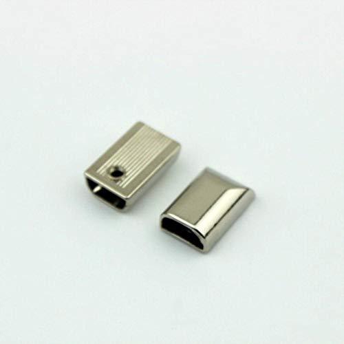 HJCWL 10 Stks 17mm Metalen Rits Trek Rits Staart Clip Gesp S Staartkop Hoofd Met Schroef DIY Tas Lederen hardware Leer Ambacht, Antiek zilver, 5#