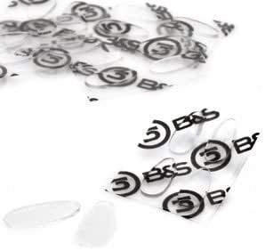 2 Paar (4 Stück) Nasenpads zum Aufkleben aus Silikon - 4 Größen - Höhe 0,7mm (13mm)
