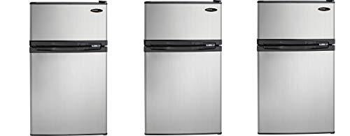 Danby DCR031B1BSLDD 3.1 cu. ft. 2 Door Compact Refrigerator, Steel (Pack of 3)