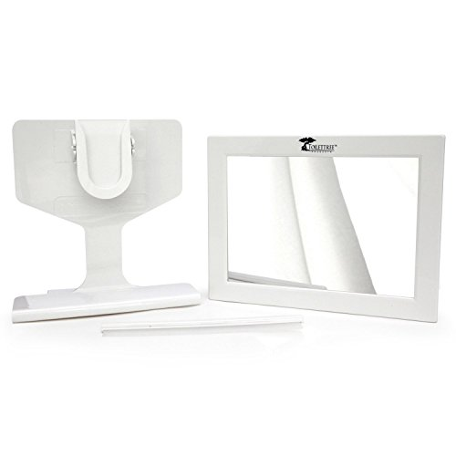 ToiletTree Products Fogless Shower Bathroom Mirror with Squeegee, White