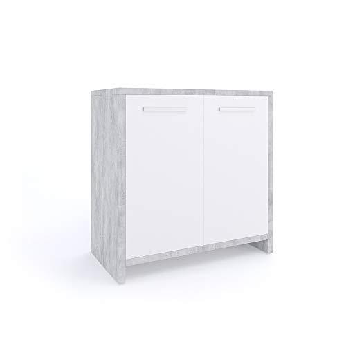 mobiletto bagno kiko Vicco Mobile sottolavabo Kiko Armadietto per lavandino Cemento