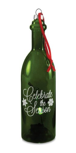 Pavilion Gift Company Wine All The Time 22048 Wine Bottle, Celebrate The Season, 7-Inch