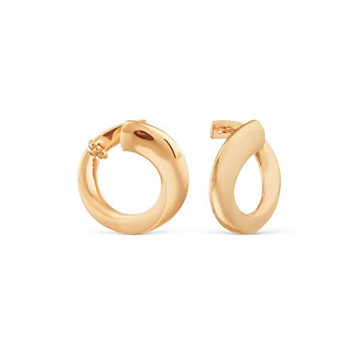 585 Russian Rose Gold 14k Swing Back Round Earrings