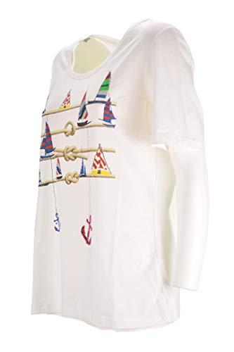 LUISA VIOLA T-Shirt Donna Bianca Taglie Comode g136f18823 (Elena Miro) 37