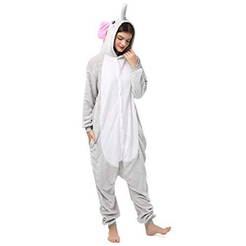 Katara 1744 (30+ Designs) Elefanten-Kostüm, Unisex Onesie/ Pyjama-Qualität für Erwachsene & Teenager