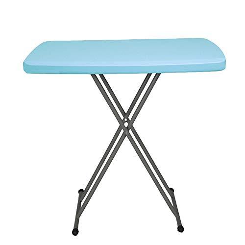 ZXQZ zhuozi Table Pliante, Bureau À La Maison, Salle À Manger, Table Pliante Portable/Convient Au Bureau/Extérieur (Bleu/Blanc/Bleu) 76 * 76 * 74cm / 30\